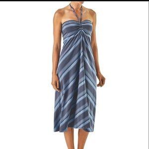 Patagonia XL striped midi dress or long skirt